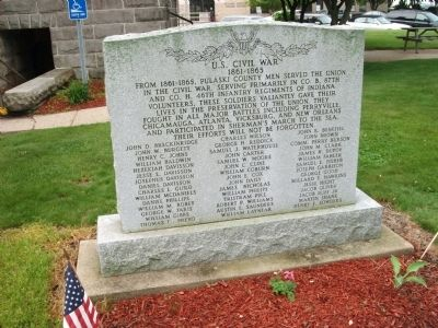 U.S. Civil War Honor Roll Marker image. Click for full size.