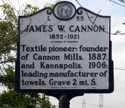 James W. Cannon Marker image. Click for full size.