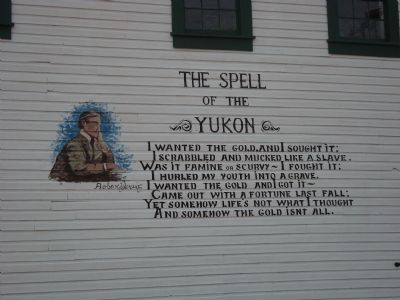 Robert Service's The Spell of the Yukon (extract) image. Click for full size.