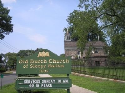 Old Dutch Church of Sleepy Hollow image. Click for full size.