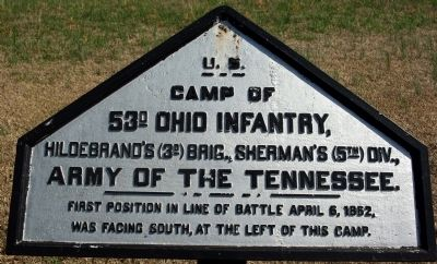 Camp of 53rd Ohio Infantry Marker image. Click for full size.