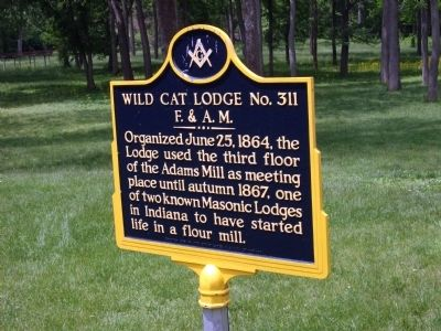 Wild Cat Lodge No. 311 Marker image. Click for full size.