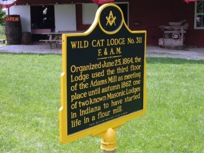 Obverse View - - Wild Cat Lodge No. 311 Marker image. Click for full size.