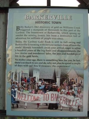 Barkerville - Historic Town image. Click for full size.