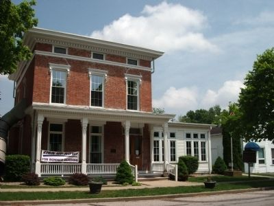 "Front View - - ""Camden Public Library"" & Camden / Jackson Township Marker image. Click for full size."