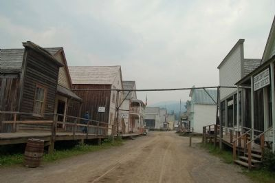 Barkerville's Main Street. image. Click for full size.