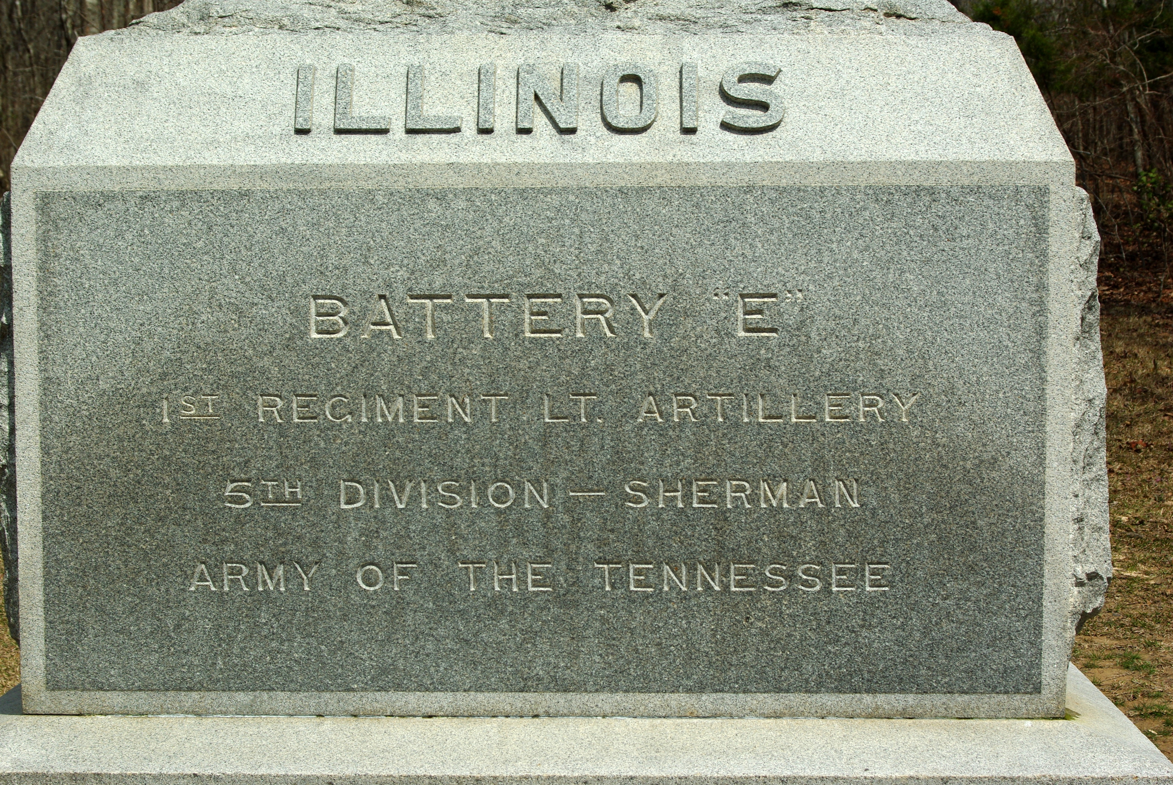 Battery E, 1st Illinois Light Artillery Marker