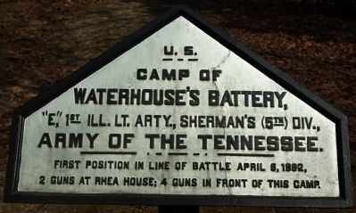 Camp of Waterhouse's Battery Marker image. Click for full size.