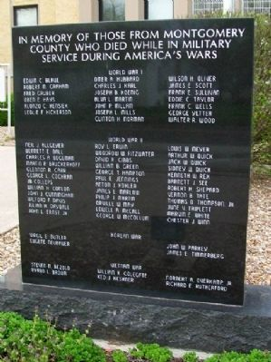 Montgomery County War Memorial image. Click for full size.