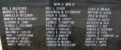 Montgomery County War Memorial Honor Roll image. Click for full size.