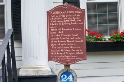 American Legion Home Marker image. Click for full size.