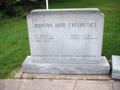 Left Section - - Korean War Casualties image. Click for full size.
