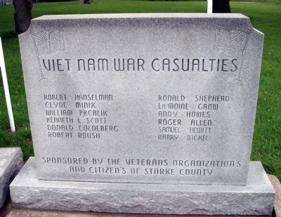 Right Section - - Viet Nam War Casualties image. Click for full size.