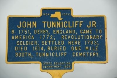 John Tunnicliff Jr Marker image. Click for full size.