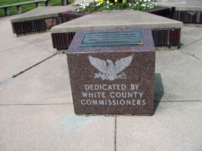 Wide View - - White County War Memorial Marker image. Click for full size.