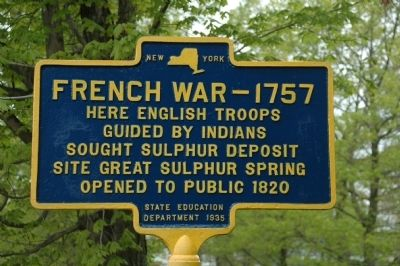French War - 1757 Marker image. Click for full size.