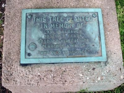 Memorial Tree Plaque image. Click for full size.