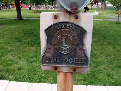Lions Club Project - Plaque image. Click for full size.
