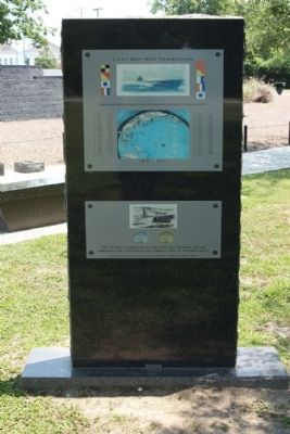 World War II Submarine Lost Boat Memorial Marker, reverse side image. Click for full size.