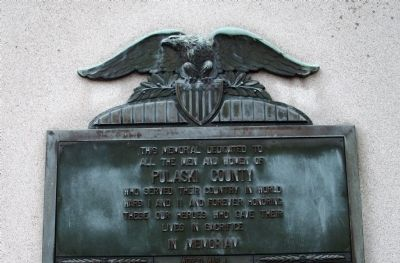 Center - Upper Section - - Pulaski County Honor Roll Memorial Marker image. Click for full size.
