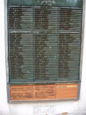 Honor Roll Section - - Pulaski County Honor Roll Memorial Marker image. Click for full size.