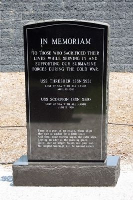 In Memoriam • USS Thresher and USS Scorpion Marker image. Click for full size.