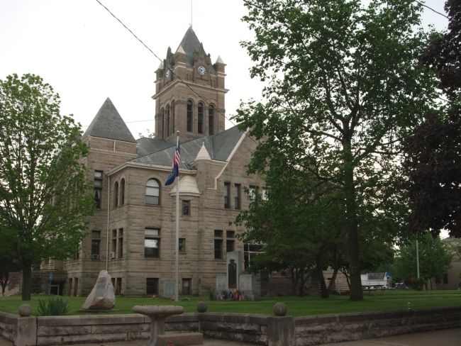 N/W Corner - - Pulaski County Courthouse - Winamac, Indiana image. Click for full size.