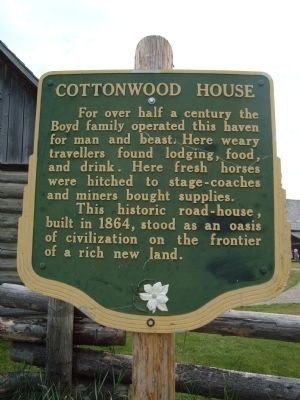 Cottonwood House Marker image. Click for full size.