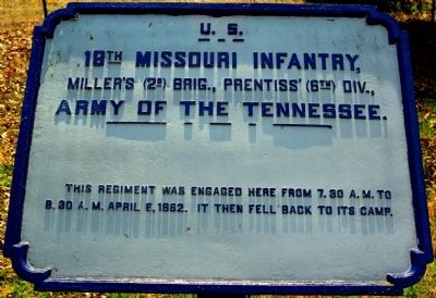 18th Missouri Infantry Marker image. Click for full size.