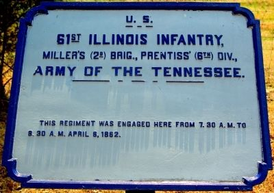 61st Illinois Infantry Marker image. Click for full size.