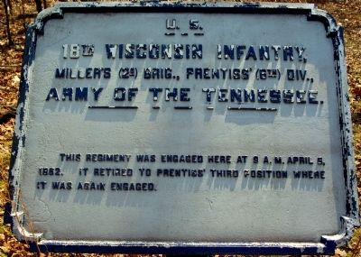 18th Wisconsin Infantry Marker image. Click for full size.
