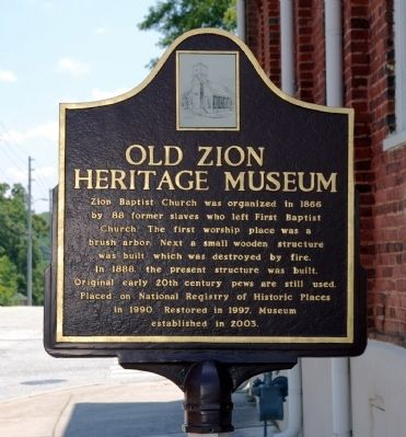 Old Zion Heritage Museum Marker image. Click for full size.