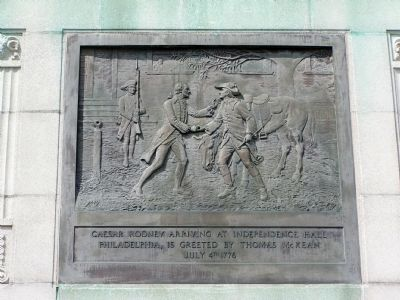 Plaque on Front of Monument image. Click for full size.
