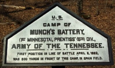 Camp of Munch's Battery Marker image. Click for full size.