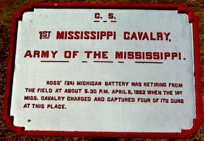 1st Mississippi Cavalry Marker image. Click for full size.