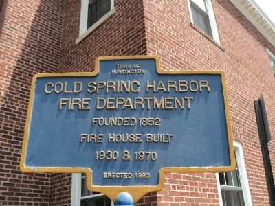 Cold Spring Harbor Fire Department Marker image. Click for full size.