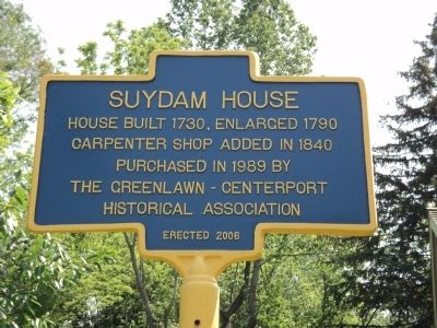 Suydam House Marker image. Click for full size.