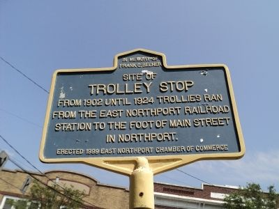 Trolley Stop Marker image. Click for full size.