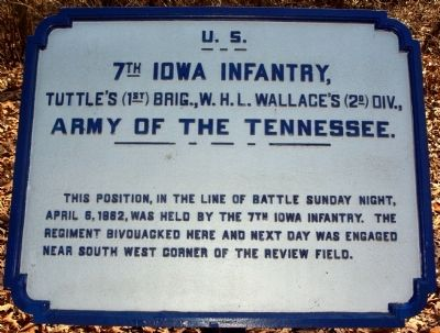 7th Iowa Infantry Marker image. Click for full size.