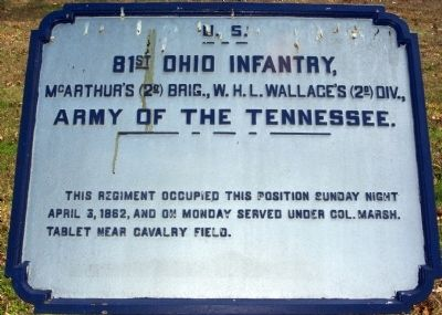 81st Ohio Infantry Marker image. Click for full size.