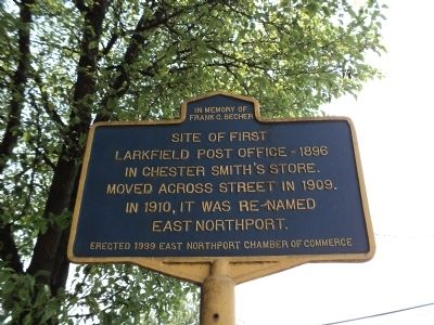 First Larkfield Post Office Marker image. Click for full size.