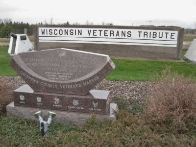 Wisconsin Veterans Tribute Marker image. Click for full size.