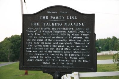 "The Party Line - The ""Talking Machine"" Marker image. Click for full size."