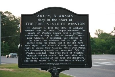 Arley, Alabama Marker image. Click for full size.