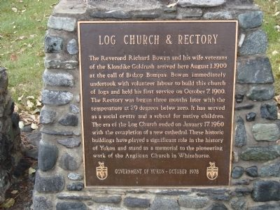 Log Church & Rectory Marker image. Click for full size.