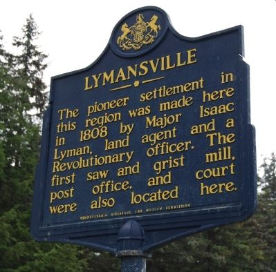 Lymansville Marker image. Click for full size.