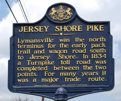 Jersey Shore Pike Marker image. Click for full size.