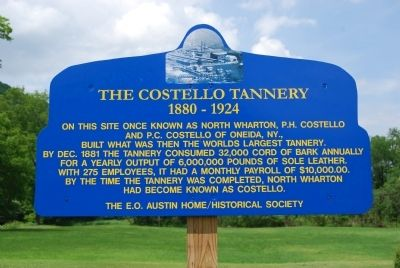 The Costello Tannery Marker image. Click for full size.