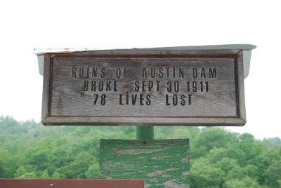 Austin Flood Disaster Information Sign image. Click for full size.