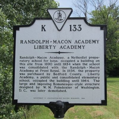 Randolph-Macon Academy Marker image. Click for full size.
